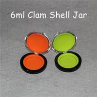 Nouvelle arrivée maquillage silicone pot de palourdes forme récipients de cire 6ml coquille de palourde contenant de silicium de qualité alimentaire cire casseroles dab récipient de silicone