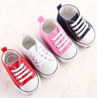 Yenidoğan Bebek İlk Walkers Ayakkabı İlkbahar Sonbahar Erkek Kız Çocuk Bebek Yürüyor Klasik Spor Sneakers Yumuşak Soled kaymaz Ayakkabı