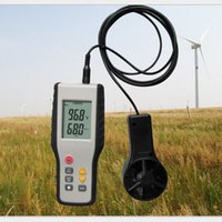 Freeshipping Yüksek Hassas Anemometre LCD CFM / CMM Ekran Rüzgar Hızı Anemografi Termal Termo-Anemometre Kızılötesi Termometre Ölçüm
