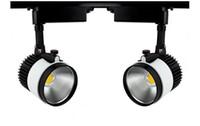 30W COB Track Éclairage LED Spot de plafond Lumières Lampada 110V 220V pour magasin de vêtements Chaussures de supermarché Boutique Showroom Gallery Décoration CE