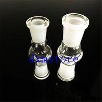 Neuester Glas-Drop-Down-Adapter Großhandel Adapter für Bongs 18 mm bis 14 mm mit männlicher Frau Schleifen Mund Klargelenk heißesten Glasadapter