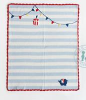Ins младенца 100% одеяла baby детей ins ins 65x75cm детская постельное белье мультфильм раздетый цветочный принт
