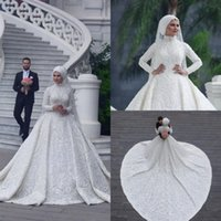 Muslim Wedding Dresses Saudi Arabia Free Shipping Long Sleev...