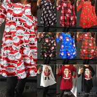 2017 Hot sale Christmas Dresses Women Long Sleeve Snowman Pr...