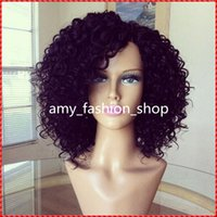 100% Brazilain Virgin Hair short fluffy kindly Curly Lace Wi...