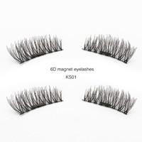 Genailish 6D Pestanas magnéticos pestanas falsas Natural longa faixa completa Magnet Lashes feitas à mão cílios falsos