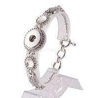 Горячая Оптовая Оснастки браслет браслеты подвески металлические браслеты для женщин подходят 18 мм Diy Partnerbeads Оснастки кнопки ювелирные изделия Kc0906