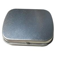 Petite taille charnière étain boîte étain boîte cadeau en argent étanchéité plaine boîtes de bonbons de mariage wen4776