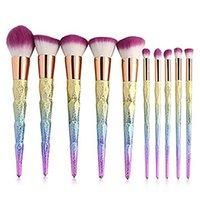 Neue Artikel Meerjungfrau Make-up Pinsel setzt Kosmetik Pinsel 10 helle Farbe Spiral Schaft 3D Bunte Schraube Make-up-Tools DHL
