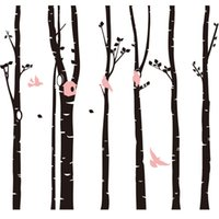 6pcs pack DIY Large Forest Birds Tree Wall Sticker Living Ro...