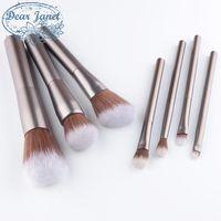 7pcs / Set / lot Blush Brush Flou Maquillage Pinceaux Mélange Maquillage Fond de Teint Cosmétique Poudre Beauté Outils Contour