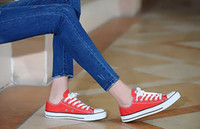 13 colores lienzo zapatos casuales estilo de bajo encaje clásico para mujer zapatillas de mujer zapatillas cómodas estudiante grande tamaño 35-46