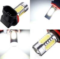 4pcs / lot Venta caliente H11 7.5W Alta potencia COB Bombilla LED Coche Auto Light Fuente Proyector DRL Conducción Niebla Faro Lámpara Xenon Blanco DC12V
