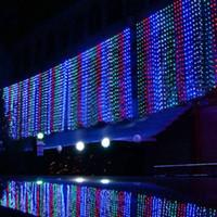 500 Led 커튼 라이트 10m * 1.5m 110-220v 크리스마스 크리스마스 야외 문자열 요정 조명 웨딩 파티 장식 램프 오 유 Us 영국 플러그