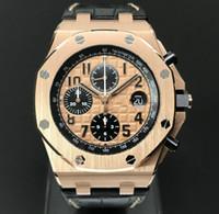 무료 배송 고품질 해외 18 천개 로즈 골드 쿼츠 운동 남성 손목 시계 럭셔리 남성 스포츠 날짜 시계