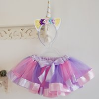 Birthday Girl Tutu Skirt and Headband Clothing Set Pastel Un...