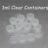 Speicher Silikon Containers transluzenten Silikon jar 3ml löschen Silicon Behälter Antihaftwachs mit Lebensmittelqualität Gläser dab Öl jar Behälter DHL