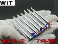 الأصلي اليابان wt ماركة W808 استبدال لحام الحديد تلميح دائم للغاية الخالي من الرصاص فقط ل W-808 الداخلية الحرارة نوع