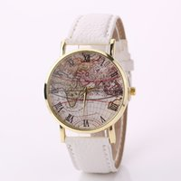 Vintage men' s Watch Casual Leather Wrist Watches World ...