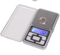 Escalas digitales escala de la joyería digital oro moneda de plata Gram tamaño del bolsillo hierba mini luz de fondo electrónica 100g 200g 500g envío rápido