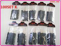 100 Takım / grup GOSO Siyah 9 adet kanca kilit çekme seti ile gerginlik anahtarı için dimple kilitleri sıcak satış DHL ücretsiz