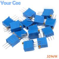 Venta al por mayor- 15Values * 1pc 3296 Potenciómetros Kit 3296W Trimmer multitivo Potenciómetro de precisión ajustable 3296W Resistencias variables
