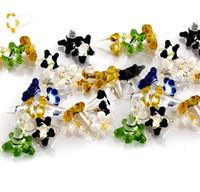 작은 데이지 스타일의 꽃 유리 화면이 모듬 색상 무료 배송