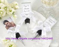 200PCs Crystal Photo Frame Bottle Stoppar Vinpropp Fotoramar Placering Korthållare Bröllopsfest Gift gynnar Bridal Shower