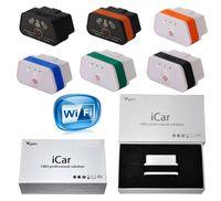 Original Vgate ELM327 Icar Icar2 Icar3 IV Pro OBD2 OBDII WIFI IOS Android Torque Full Protocol Best Quality Free ePacket