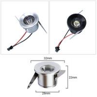 Silber / schwarzer Körper Mini führte Kabinettlicht 1w Mini führte Punktdownlight AC85-265V vertiefte Anzeigenzähler-Deckenlampe