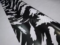 Vinyle grand blanc noir de Camoufalge pour l'enveloppe de voiture avec le film de CAMO libre libre d'air / bulle d'air pour le bateau graphiques de camion enduisant 1.52X30M