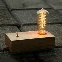 Cheap E27 Wood Table Lamp Best No AC Table Lamp