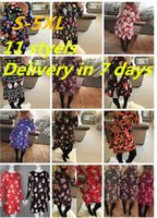 Autumn Fashion Christmas Cartoon Printing Dresses Ladies Sli...