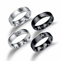 2017 New Fashion DIY Couple Jewelry Her King and His Queen S...
