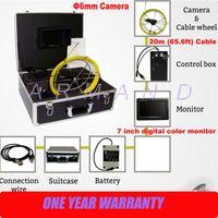 6mmカメラサイズ小さいCCTVプッシュロッドカメラ7インチモニター産業内視鏡が付いているパイプ検査カメラ