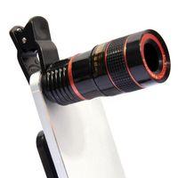 Lentille de caméra 8x Télémultife à Téléphoto Lens Fisheye Elevé Lens macro pour iPhone 7 6S Plus Samsung Galaxy S8 S7 Edge
