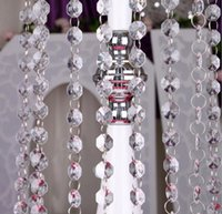 Acrylic Clear Crystal Beads Wedding Birthday Party 1meter lo...