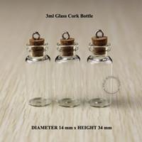 3 мл Мини маленькие стеклянные флаконы флаконы баночки с пробками декоративные пробирки стеклянные пробирки бутылка с пробкой для подвески мини 50шт