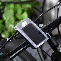 Открытые 4-водить солнечный велосипед головного света переднего факел лампа Открытого оборудование Переднего Reer Handlebar велосипеды Свет Аксессуары для велосипеда