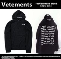 Vetements High Street Men And Women Loose Hooded Sweater Fas...