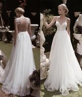 새로운 디자인 공주 웨딩 드레스 터키 섹시한 깊은 V 목 레이스 웨딩 드레스 환상 Bodice Backless Beach 웨딩 드레스