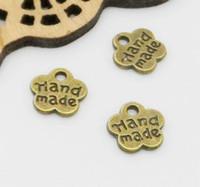 500 قطع أثرية من البرونز جميل زهرة صغيرة يدوية سحر قلادة لصنع المجوهرات 8MM