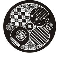 Nail Schablonen Nail Art Printing Schablone Druck-Platten-Nagel-Schablone Stamping-Nagel-Kunst-Platte für Frauen Nail