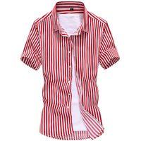 Оптовая продажа-2016 новый с коротким рукавом мужчины рубашки мужчины высокое качество случайные рубашки полосатые рубашки мужчины 3color плюс размер M-5XL 266-D16