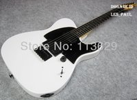Top Venda JIM ROOT Artista ASSINATURAS Branco Tele Guitarra Elétrica EMG Pickups Maple Neck, Fingerboard Rosewood, Double Locking Tremolo Ponte