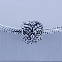Lose Perlen Passt Europäische Pandora Armband Halsketten DIY 100% 925 Sterling Silber Original Perlen Eule Charme Frauen Schmuck 1 teil / los