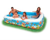 Petit Croaker famille Pataugeoire Rectangle Piscine gonflable pour enfants Mer Ball Pool pour l'été Jeux d'extérieur