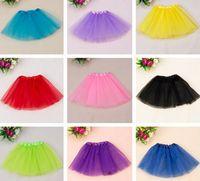Pas cher bébé fille danse tutu jupe enfants tulle tutus pettiskirt princesse costumes de soirée Livraison gratuite 10pcs / lot livraison gratuite