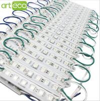 Envío gratis módulo LED lámpara de luz SMD 5050 IP 66 módulos LED impermeables para letrero de letras LED luz trasera 6 led 1.5W 90lm DC 12V