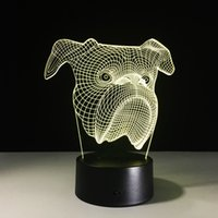 2017 Brand New Shar Pei 3D Illusion Night Lamp 3D Optical La...